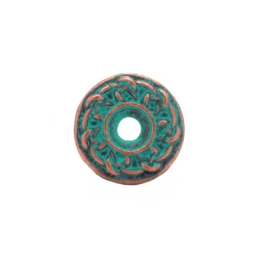Celtic Bezel Concho Antique Patina Front