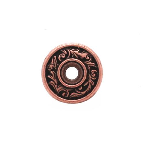 Florentine Bezel Concho Copper Front