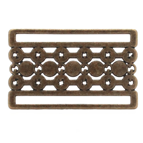 Buckle Slide Pearl Brass Bronze Back