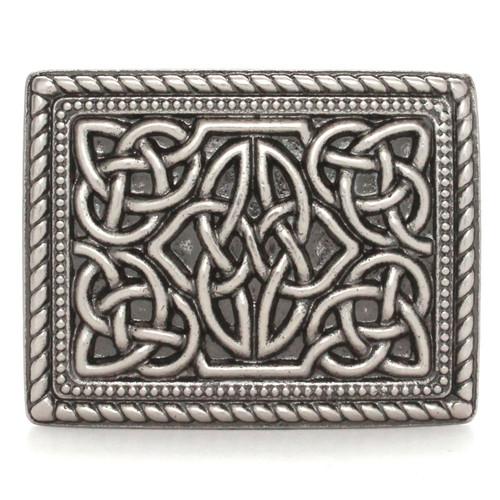 Celtic Trophy Belt Buckle Antique Nickel Front