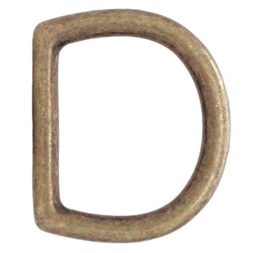 Die Cast D-Ring Antique Brass