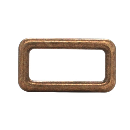 Die Cast Rectangular Ring Antique Brass