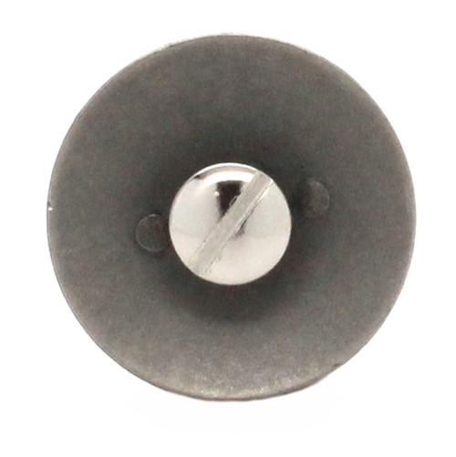 Army Logo Antique Nickel Screwback Concho Back