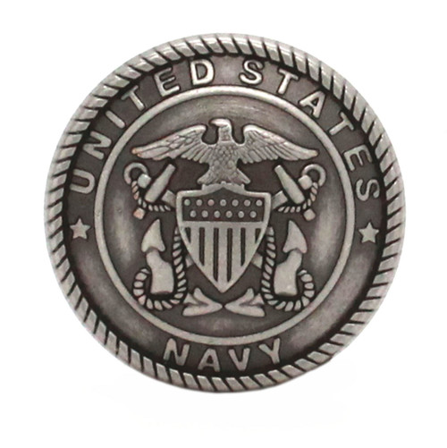 Navy Logo Antique Nickel Front