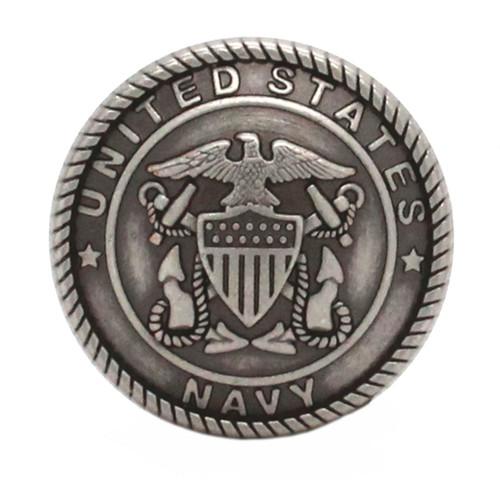 Navy Logo Antique Nickel Front