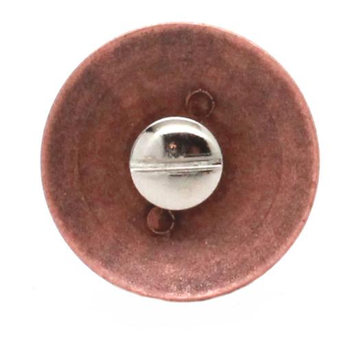 Navy Logo Antique Copper Back