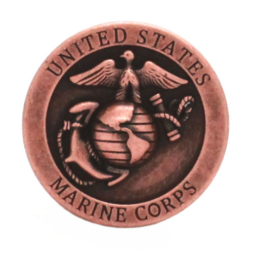 Marine Corps Logo Antique Copper Front