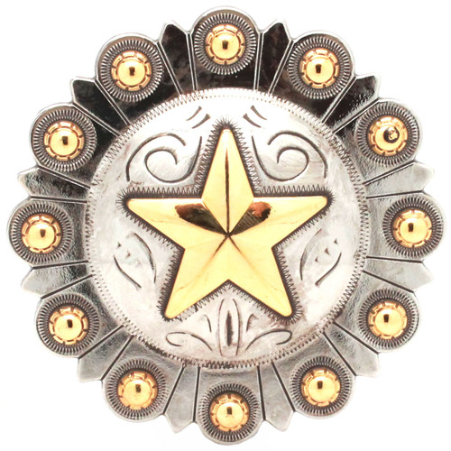 """Star Berry Concho 3"""" Front"""