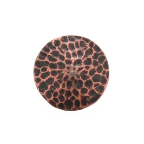 "Concho Antique Copper Pewter 3/4"" Front"
