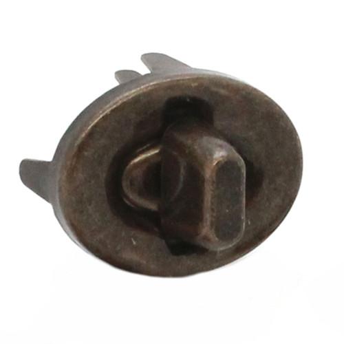 4 Piece Turn Lock Set Steel Antique Brass