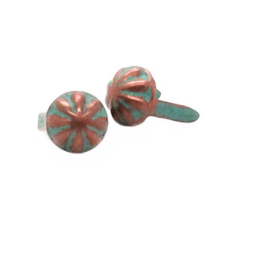 "Copper Patina Parachute 1/4"" Diameter Spots"