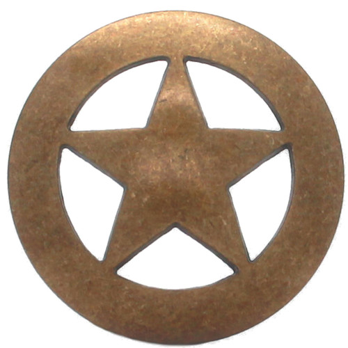 "Smooth Star Concho Antique Brass 1.5"" 7534-21 by Stecksstore"