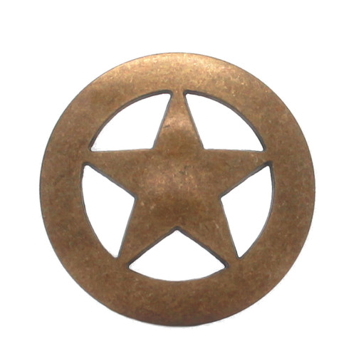 """Smooth Star Concho Antique Brass 1"""" 7535-21 by Stecksstore"""