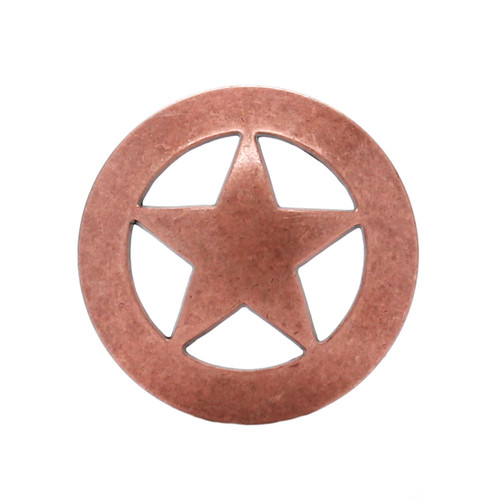 "Smooth Star Concho Copper 3/4"" 7536-10 by Stecksstore"