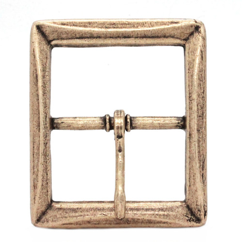 Buckle Center Bar With Beveled Edges Antique Brass Front