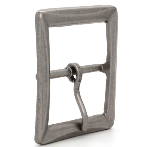 Buckle Center Bar With Beveled Edges Antique Nickel Side