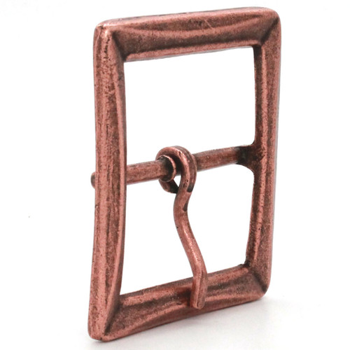 Buckle Center Bar With Beveled Edges Antique Copper Side