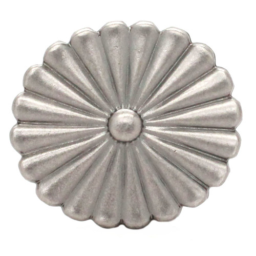 Pinwheel Trophy Belt Buckle Antique Nickel Front