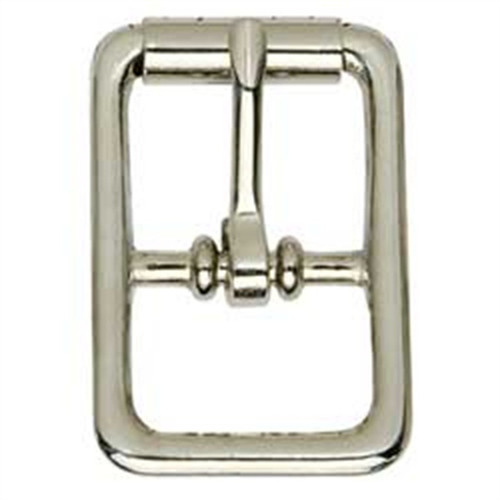 Center Bar Roller Buckle Nickel Plated 1/2""