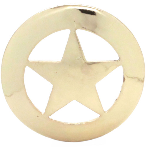 Smooth Star Saddle Concho 3 Inch Front