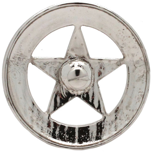 "Smooth Star Saddle Tack Concho 3"" Nickel Back"