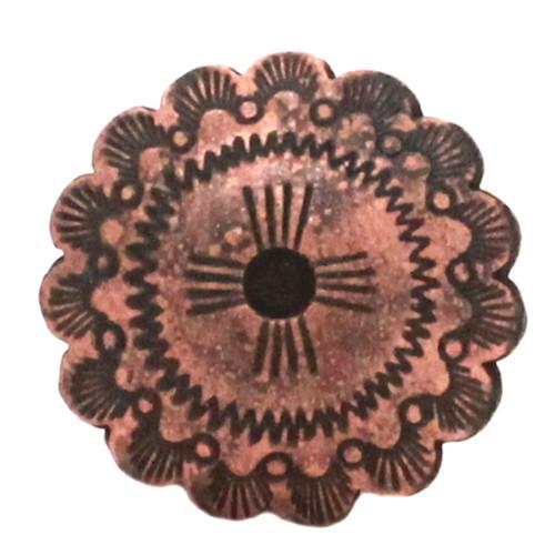 Santa Fe Cactus Cross Concho Antique Copper Front