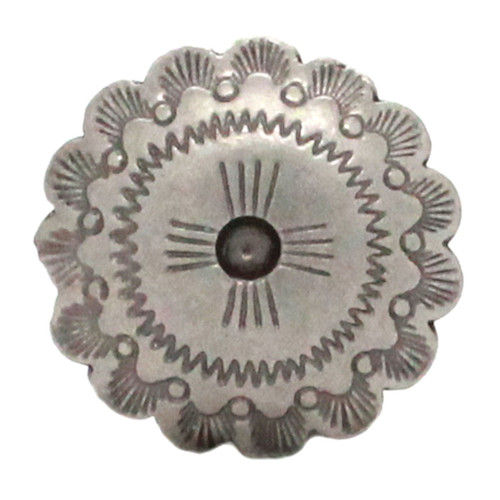 Santa Fe Cactus Cross Concho Antique Nickel Front