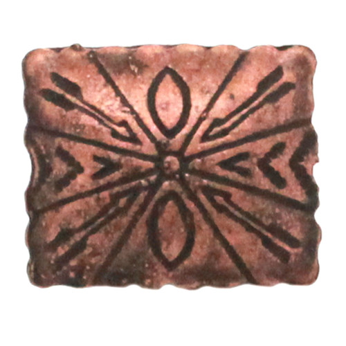 Santa Fe cross and arrows antique copper front