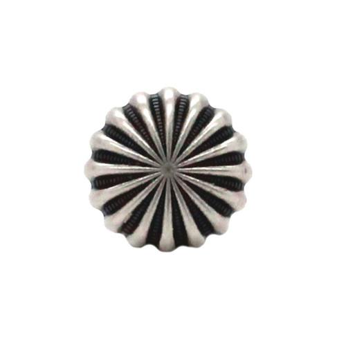 """Pinwheel Concho Antique Nickel 3/4"""" Front"""