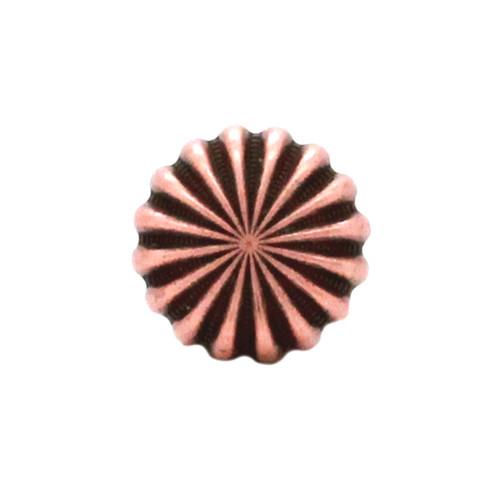 "Pinwheel Concho Antique Copper 3/4"" Front"
