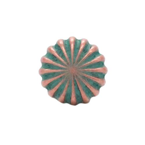 "Pinwheel Concho Copper Patina 3/4"" Front"