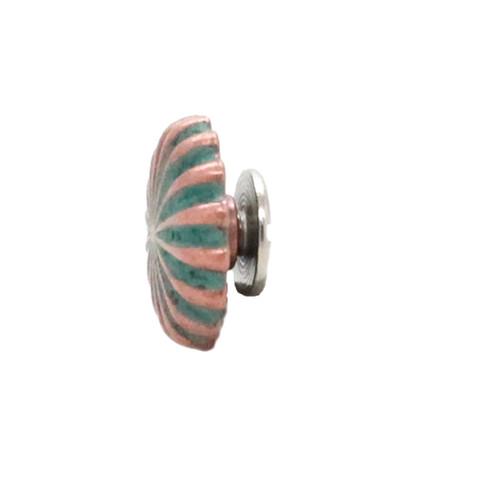 "Pinwheel Concho Copper Patina 3/4"" Side"