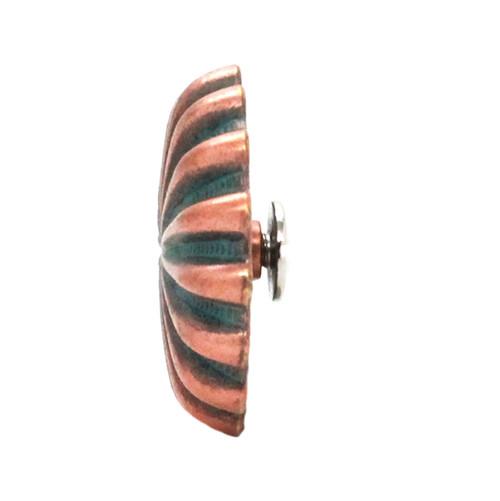"Pinwheel Concho Copper Patina 1"" Side"