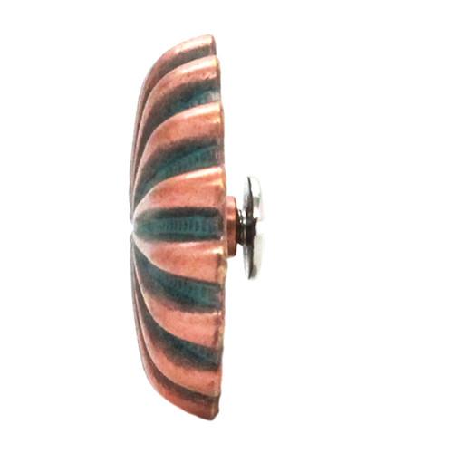 "Pinwheel Concho Copper Patina 1.25"" Side"