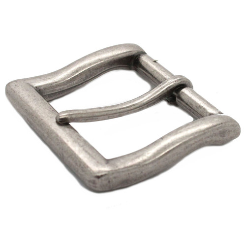 Square heel bar 1.5 inch antique nickel plate front