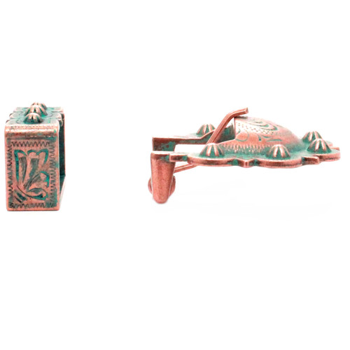 Calgary Berry Buckle Set Copper Patina Side