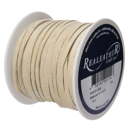 Ivory Suede Lace Spool Side