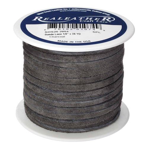 Charcoal Suede Spool