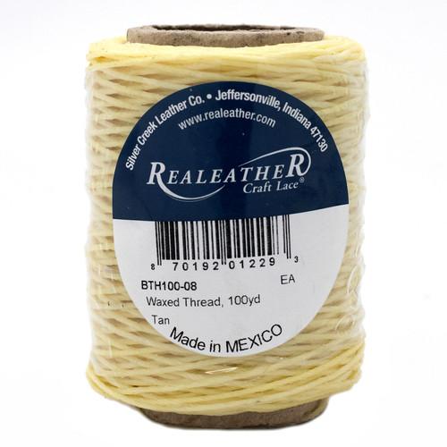 BTH100-08 Waxed Thread, 50g, Tan
