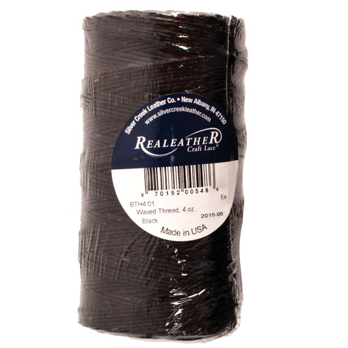 Waxed Thread Black Polyester Realeather BTH4 01