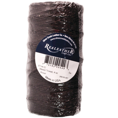 Waxed Thread Brown Polyester Realeather BTH4 02