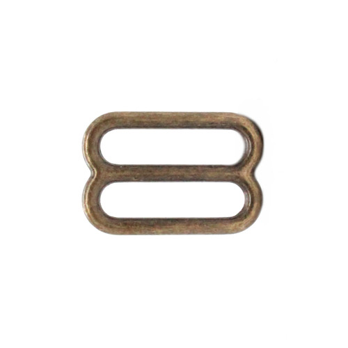Strap Slide Adjuster 1 Inch Antique Brass Plate