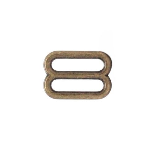 Strap Slide Adjuster 3-4 Inch Antique Brass Plate