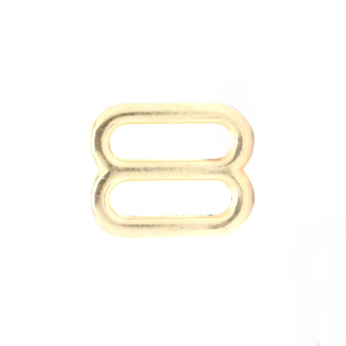 Double Loop Strap Adjuster 5/8 Inch Brass Side