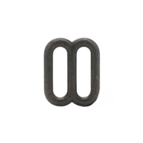 Double Loop Strap Adjuster 5/8 Inch Black Vertical