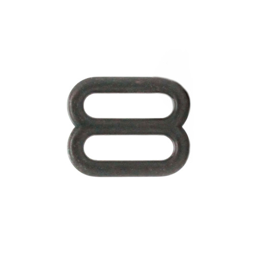 Double Loop Strap Adjuster 5/8 Inch Black Side