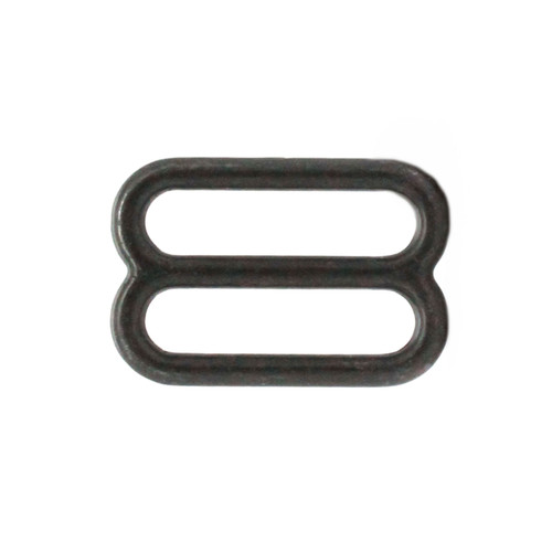 Double Loop Strap Adjuster 1 Inch Black Side