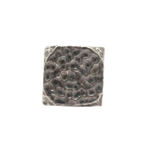 "Hammered Flats Concho Antique Nickel Pewter 3/4"" Front"