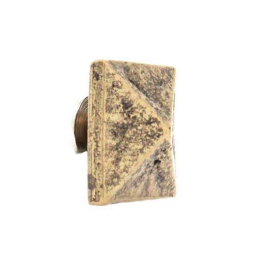 "Pyramid Concho Antique Brass Screw Back 3/4"" Angle"