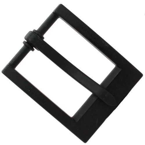 "Heel Bar Belt Buckle Black 1-1/4"" Top"
